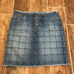 RALPH LAUREN Vintage PLAID LABEL Jean SKIRT 4